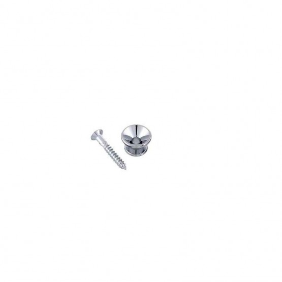 ALL PARTS AP0670010 STRAP BUTTON WITH SCREWS, CHROME. UNIDAD