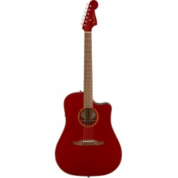 FENDER REDONDO CLASSIC GUITARRA ELECTROACUSTICA HOT ROD RED METALLIC CON FUNDA. NOVEDAD