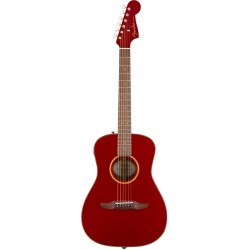 FENDER MALIBU CLASSIC GUITARRA ELECTROACUSTICA HOT ROD RED METALLIC CON FUNDA