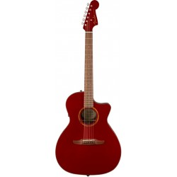 FENDER NEWPORTER CLASSIC GUITARRA ELECTROACUSTICA HOT ROD RED METALLIC CON FUNDA