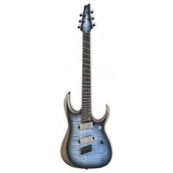 IBANEZ RGDIM6FM CLF IRON LABEL GUITARRA ELECTRICA MULTIESCALA CERULEAN BLUE BURST FLAT