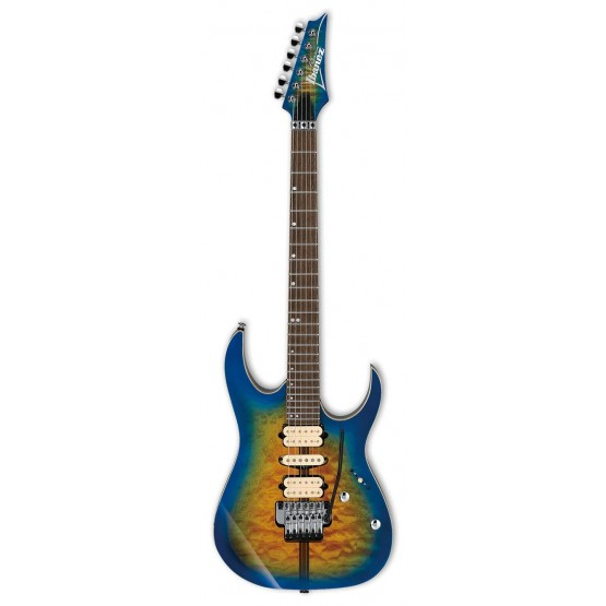 IBANEZ RG6PFGMLTD GBB PREMIUM GUITARRA ELECTRICA GREYSER BLUE BURST. NOVEDAD