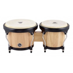 LATIN PERCUSSION LPA601AW BONGOS NATURAL WOOD