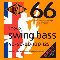ROTOSOUND SM665 SWING BASS JUEGO 5 CUERDAS BAJO 040-125