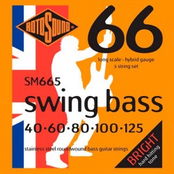 ROTOSOUND SM665 SWING BASS JUEGO CUERDAS BAJO 5 CUERDAS 40-125