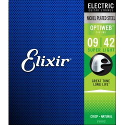 ELIXIR 19002 OPTIWEB SUPERLITE JUEGO CUERDAS GUITARRA ELECTRICA 09-42