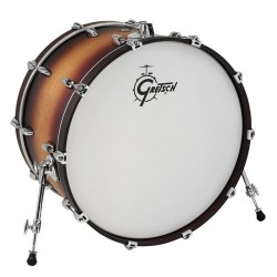 GRETSCH 24X14 NEW RENOWN MAPLE 2016 BOMBO BATERIA SATIN TOBACCO BURST