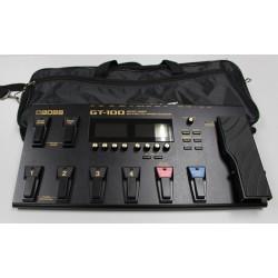 BOSS GT100 + ROCKBAG RB23050 PEDALERA MULTIEFECTOS GUITARRA CON FUNDA. SEGUNDA MANO