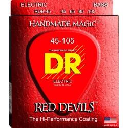 DR RDB45105 RED DEVILS JUEGO CUERDAS BAJO 045-105 ROJAS