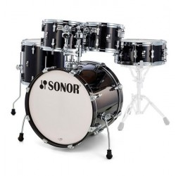 SONOR AQ2 STAGE SET TSB BATERIA ACUSTICA TRANSPARENT STAIN BLACK