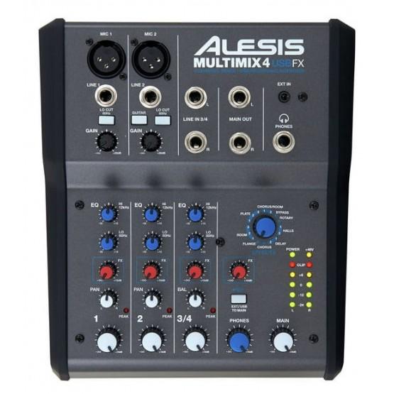 ALESIS MULTIMIX 4 USB FX MESA DE MEZCLAS 4 CANALES CON EFECTOS