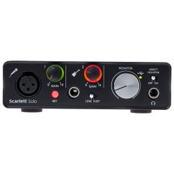 FOCUSRITE SCARLETT SOLO 2ND GENERATION INTERFAZ DE AUDIO USB