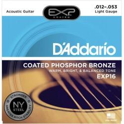 D'ADDARIO EXP16 JUEGO CUERDAS GUITARRA ACUSTICA 012-053
