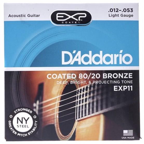 D'ADDARIO EXP11 JUEGO CUERDAS GUITARRA ACUSTICA 012-053