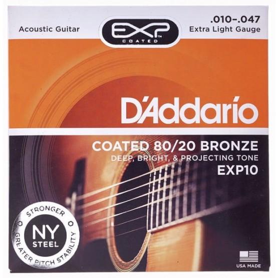 D'ADDARIO EXP10 JUEGO CUERDAS GUITARRA ACUSTICA 010-047