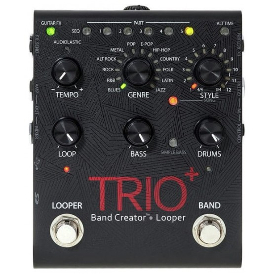 DIGITECH TRIO+ BAND CREATOR LOOPER PEDAL GUITARRA