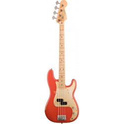 FENDER ROAD WORN 50S PRECISION BASS MN BAJO ELECTRICO FIESTA RED