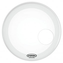 EVANS BD22RGCW EQ3 RESONANT COATED PARCHE 22 PULGADAS BLANCO