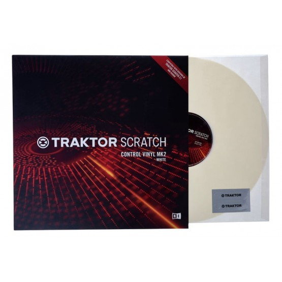 NATIVE INSTRUMENTS VINILO BLANCO V2 PARA TRAKTOR SCRATCH PRO 2