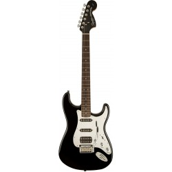 SQUIER BLACK AND CHROME STANDARD STRATOCASTER HSS IL GUITARRA ELECTRICA NEGRA