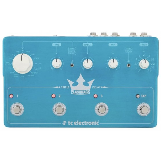 TC ELECTRONIC FLASHBACK TRIPLE DELAY PEDAL.
