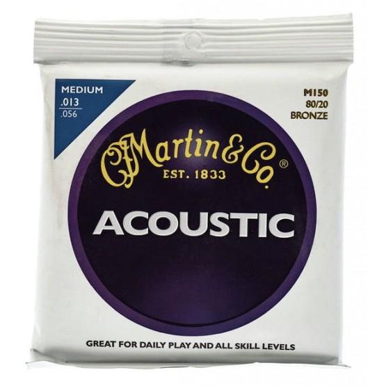 MARTIN M150 MED JUEGO CUERDAS GUITARRA ACUSTICA BRONCE 013 056