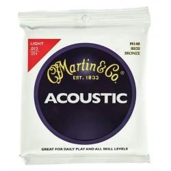 MARTIN M140 LT JUEGO CUERDAS GUITARRA ACUSTICA BRONCE 012 054