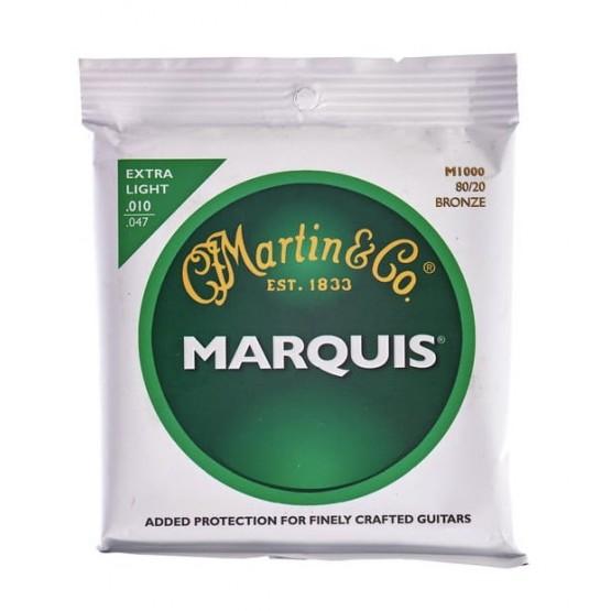 MARTIN M1000 MARQUIS JUEGO DE CUERDAS GUITARRA ACUSTICA 10 47 BRONCE.