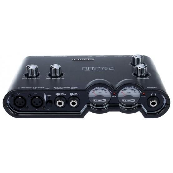 LINE 6 POD STUDIO UX2 INTERFACE TARJETA AUDIO USB 2 ENTRADAS MICRO