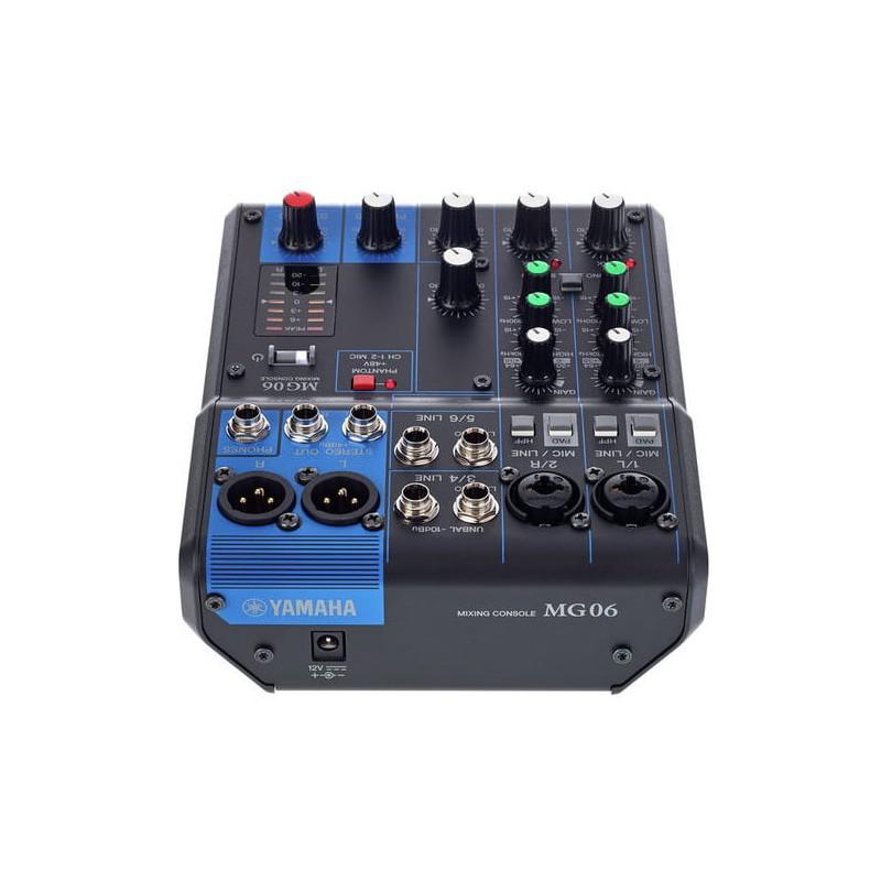 Yamaha mg06yem mesa de mezclas analogica de 6 canales for Mejores mesas de mezclas
