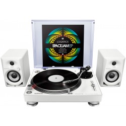 PIONEER DJ PACK PLX500W PLATO GIRATORIO Y MONITORES DM40W BLANCO