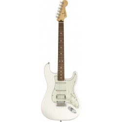 FENDER PLAYER STRATOCASTER HSS PF GUITARRA ELECTRICA POLAR WHITE. NOVEDAD