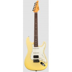 SUHR CLASSIC S HSS RW VY GUITARRA ELECTRICA VINTAGE YELLOW