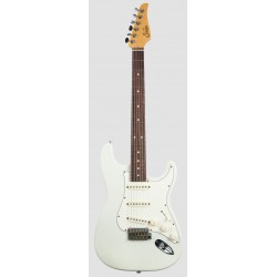 SUHR CLASSIC S ANTIQUE RW OW GUITARRA ELECTRICA OLYMPIC WHITE