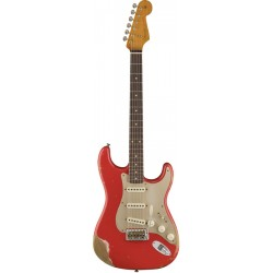 FENDER 59 STRATOCASTER CUSTOM SHOP RW GUITARRA ELECTRICA FIESTA RED HEAVY RELIC
