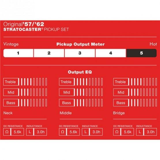 FENDER 0992117000 ORIGINAL 57 62 STRATOCASTER PICKUPS SET PASTILLAS GUITARRA