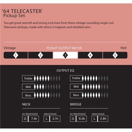 FENDER 0992234000 PURE VINTAGE 64 TELECASTER PICKUPS SET PASTILLAS GUITARRA