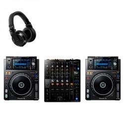PIONEER DJ XDJ-1000MK2 PACK REPRODUCTORES DJ CON MEZCLADORDJM-750MK2 Y AURICULARES HDJ X7K
