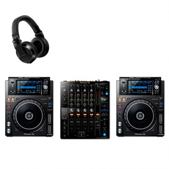 PIONEER DJ XDJ1000MK2 PACK REPRODUCTORES DJ CON MEZCLADOR Y AURICULARES