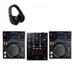 PIONEER DJ XDJ-700 PACK REPRODUCTORES DJ CON MEZCLADOR DJM-450 Y AURICULARES HDJ-X5-K