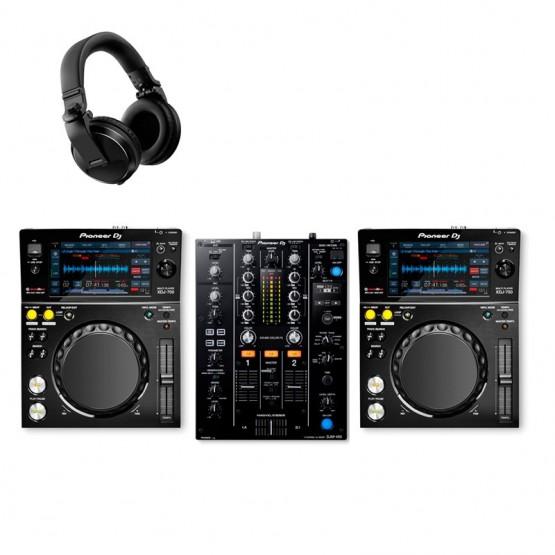 PIONEER DJ XDJ700 PACK REPRODUCTORES DJ CON MEZCLADOR Y AURICULARES