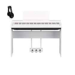 YAMAHA -PACK- P121 WH PIANO DIGITAL BLANCO + SOPORTE + PEDALERA Y AURICULARES
