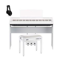YAMAHA -PACK- P121 WH PIANO DIGITAL BLANCO + SOPORTE + PEDALERA + BANQUETA Y AURICULARES