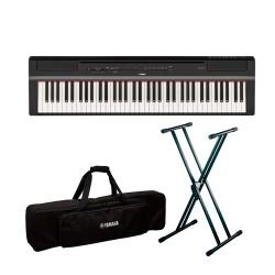 YAMAHA -PACK- P121 B PIANO DIGITAL NEGRO + SOPORTE TIJERA Y FUNDA