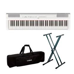 YAMAHA -PACK- P121 WH PIANO DIGITAL BLANCO + SOPORTE TIJERA Y FUNDA