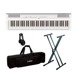 YAMAHA -PACK- P121 WH PIANO DIGITAL BLANCO + SOPORTE TIJERA + FUNDA Y AURICULARES