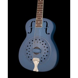 NATIONAL RESOPHONIC COLLEGIAN STEEL SINGLE CONE 14 FRETS GUITARRA RESONADORA GALAXY BLUE