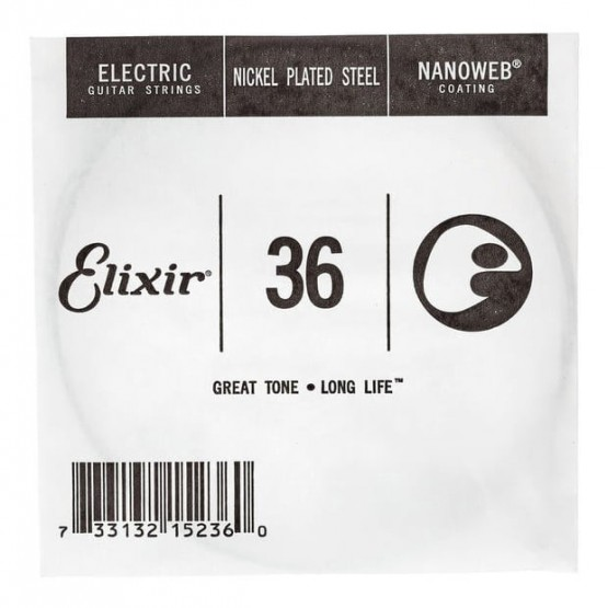 ELIXIR 036 NANOWEB CUERDA GUITARRA ELECTRICA CUSTOM LIGHT