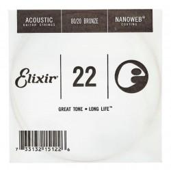 ELIXIR 022 NANOWEB CUERDA ACUSTICA ENTORCHADA