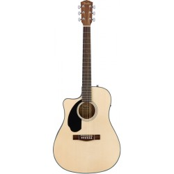 FENDER CD60SCE LEFTHAND GUITARRA ELECTROACUSTICA ZURDOS DREADNOUGHT NATURAL